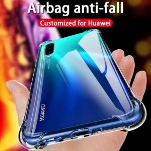 Custodia Silicone antiurto trasparente progettata per Huawei