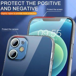 Custodia protettiva in Silicone antiurto per iPhone 11 - 12